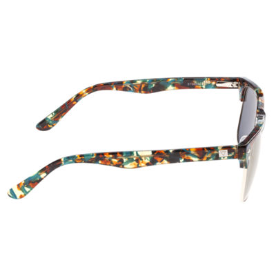 Sixty-One Half Frame Square Sunglasses-Womens