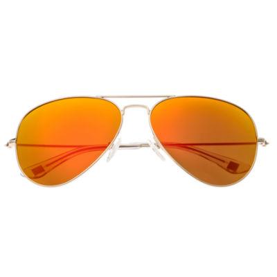 Sixty-One Full Frame Aviator Sunglasses-Womens