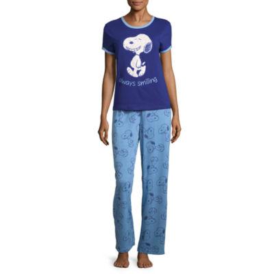 Snoopy Short Sleeve Pant Pajama Set