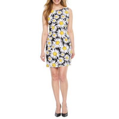 Ronni Nicole Sleeveless Floral Fit & Flare Dress-Petite