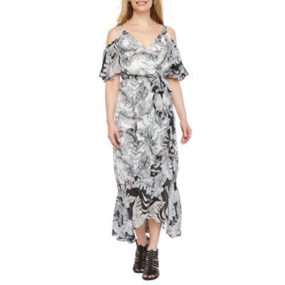 Melrose Short Sleeve Maxi Dress-Petite