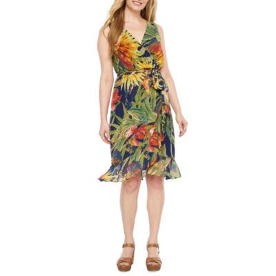 Melrose Sleeveless A-Line Dress-Petite