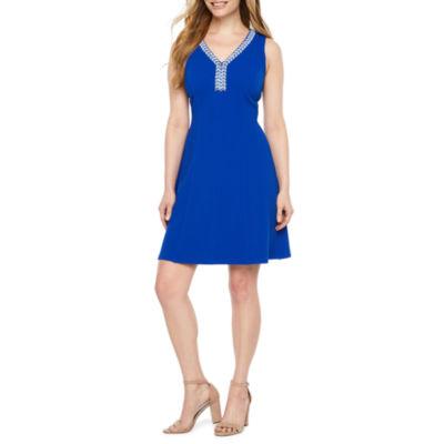 Ronni Nicole Sleeveless Embellished Fit & Flare Dress