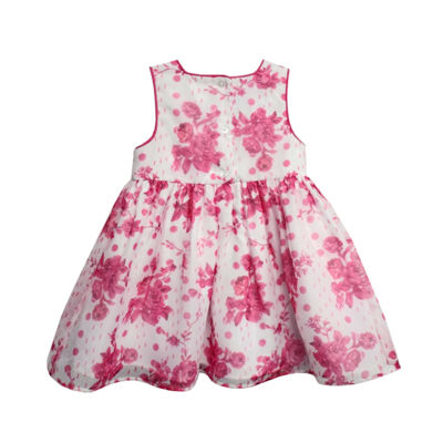 Marmellata Sleeveless Pink Floral Dress - Baby Girls
