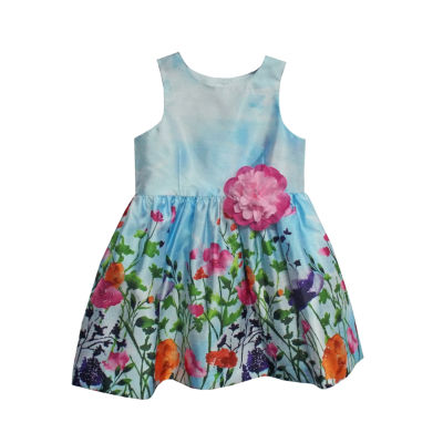 Marmellata Border Print Sleeveless Dress - Baby Girls