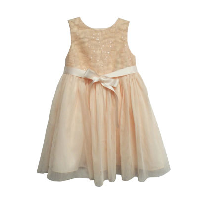 Marmellata Sleeveless Sequin Mesh Ballerina Dress - Baby Girls