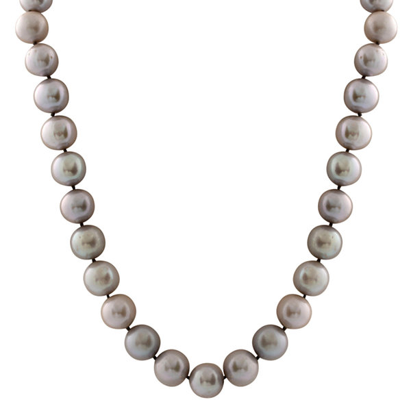 Splendid Pearls Womens Gray Pearl 14K Gold Strand Necklace