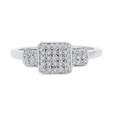 Bridal Womens 1/4 CT. T.W. White Diamond 10K White Gold Engagement Ring