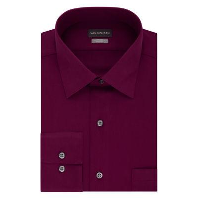 Van Heusen Long Sleeve Sateen Dress Shirt - Tall