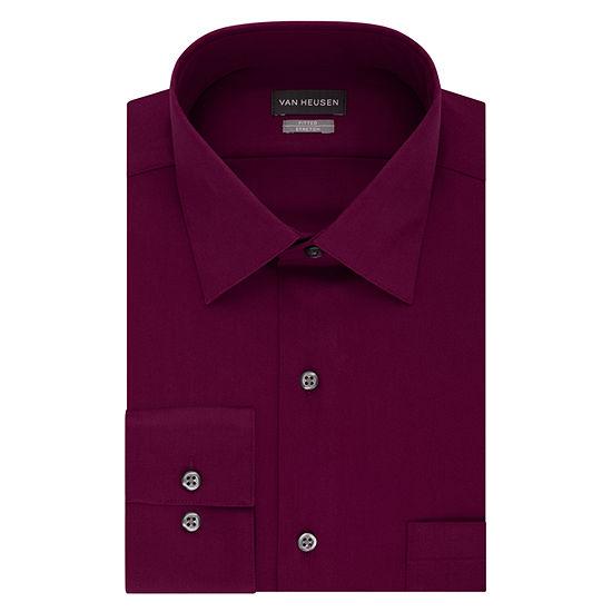 Van Heusen - Tall Mens Spread Collar Long Sleeve Stretch Dress Shirt