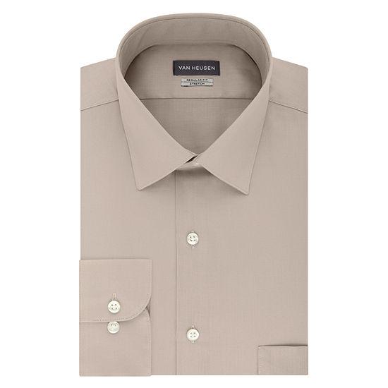 Van Heusen Non Iron Lux Sateen Mens Spread Collar Long Sleeve Stretch Dress Shirt - Big and Tall