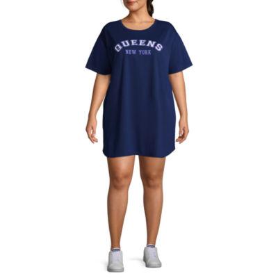 """Flirtitude """"Queens"""" Varsity Dress - Juniors Plus"""