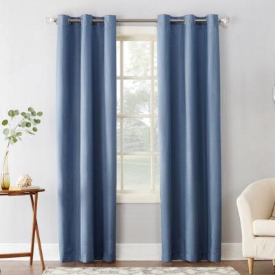 Sun Zero Cooper Room Darkening Thermal Insulated Grommet Curtain Panel