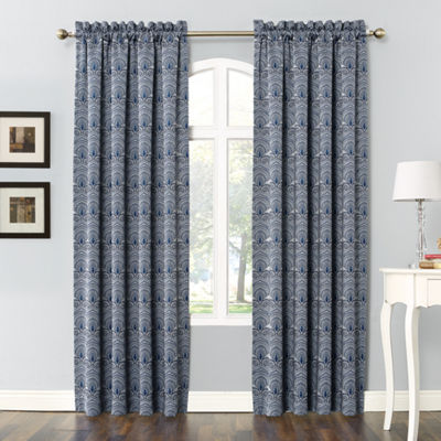 Sun Zero Dmitri Rod-Pocket Room Darkening Curtain Panel
