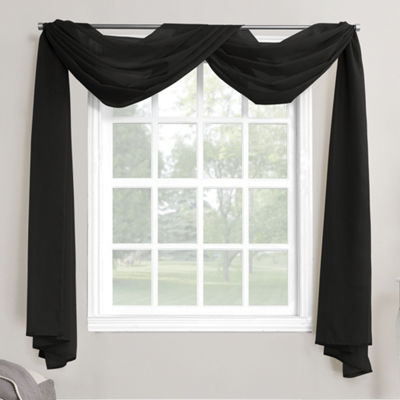 No. 918 Emily Sheer Voile Window Scarf Valance
