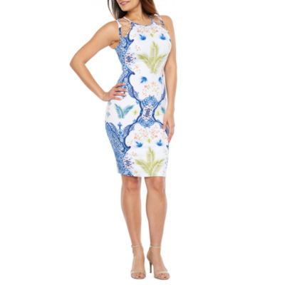 Bold Elements Lace Front Bodycon Dress