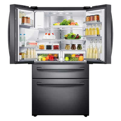 Samsung ENERGY STAR® Smart Wi-Fi Enabled 22 cu. ft. Counter Depth 4-Door French Door Refrigerator with Family Hub™