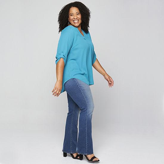 Boutique + Slim Fit Bootcut Jeans - Plus