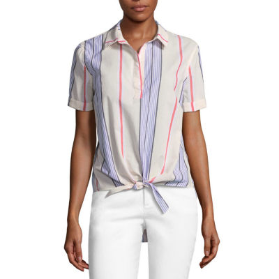 a.n.a. Tie Front Shirt