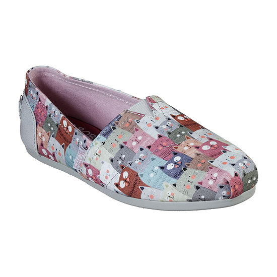 Skechers Bobs Womens Bobs Plush Slip-On Shoe Closed Toe