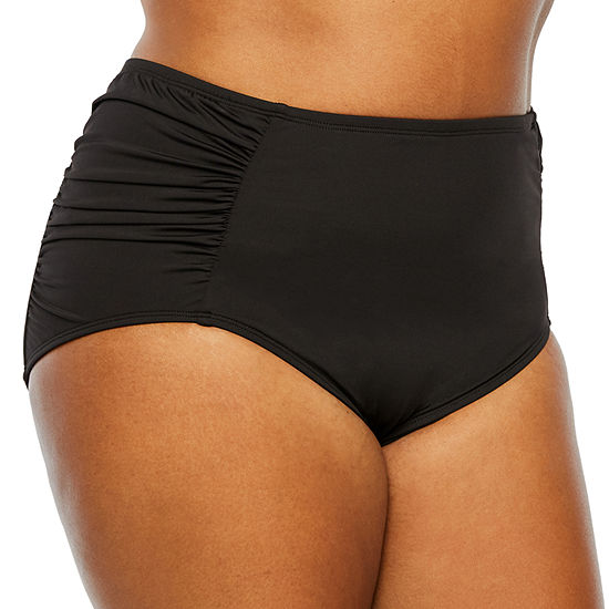 Liz Claiborne High Waist Swimsuit Bottom Plus
