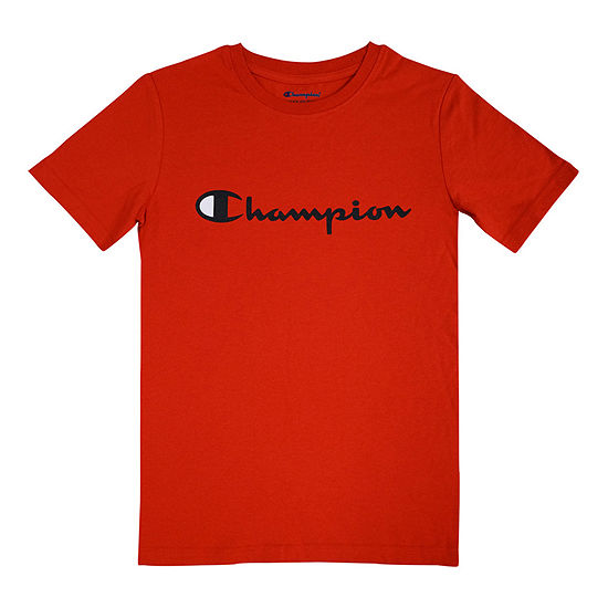 Champion Boys Crew Neck Short Sleeve Graphic T-Shirt - Big Kid