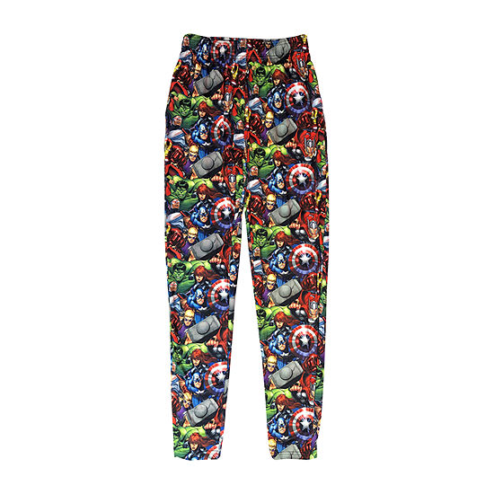 Mens Knit Pajama Pants Avengers