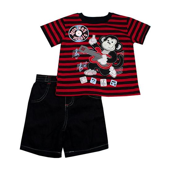 Little Rebels 2-pc. Short Set Toddler Boys
