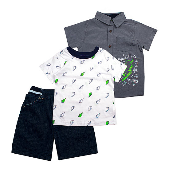 Little Rebels Boys 3-pc. Short Set Toddler