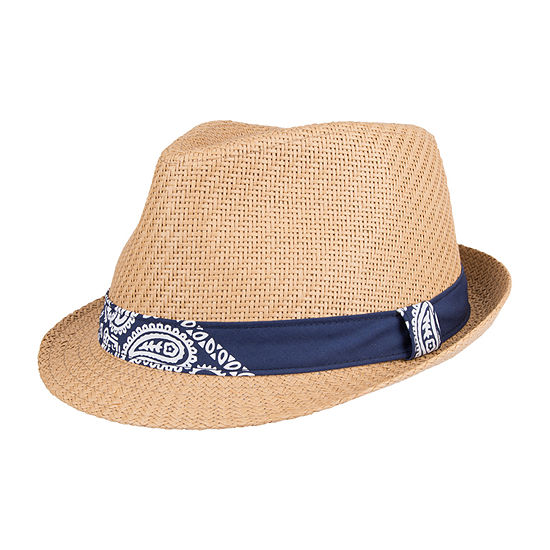 Levi's® Straw Fedora with Bandana Band