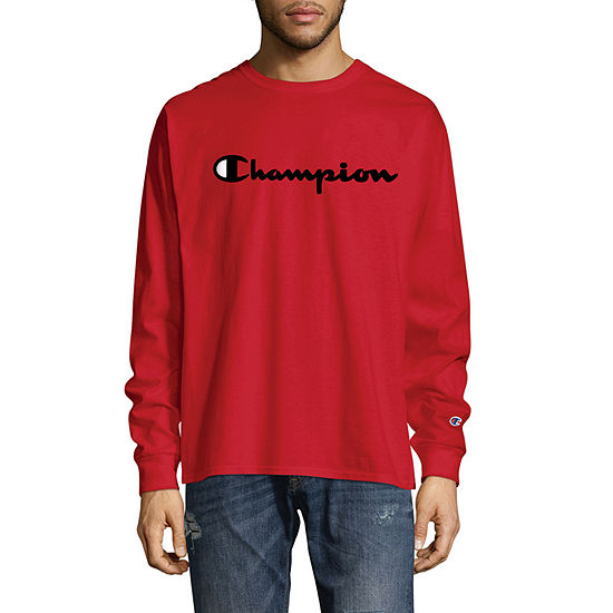 Champion Mens Crew Neck Long Sleeve T-Shirt