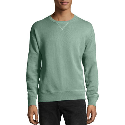 Hanes Comfort Wash Mens Crew Neck Long Sleeve Sweatshirt