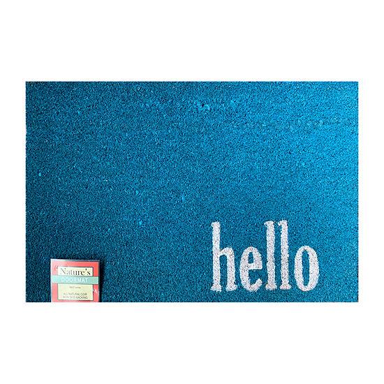 Direct Home Textiles Group Hello Rectangular Outdoor Doormat