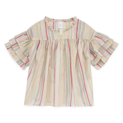 Peyton & Parker Ruffle Sleeve Blouse - Girls' 6-16