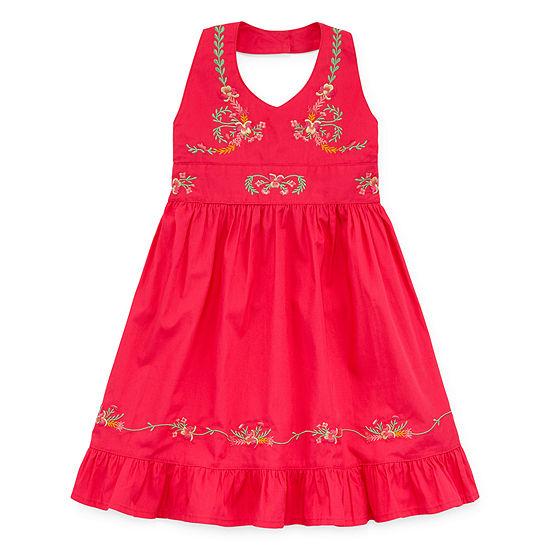 Blueberi Boulevard Girls Sleeveless Sundress - Toddler