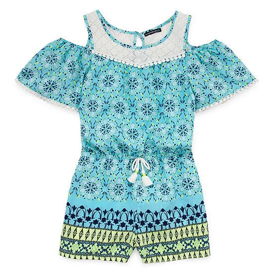 My Michelle Girls Short Sleeve Romper Preschool / Big Kid