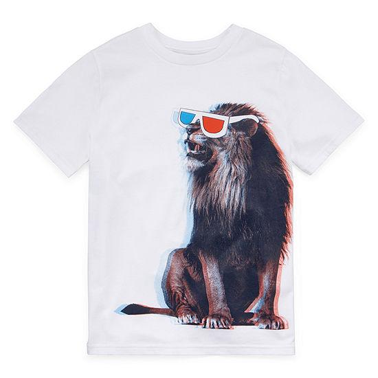 Arizona - Little Kid / Big Kid Boys Crew Neck Short Sleeve Graphic T-Shirt