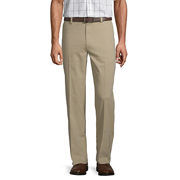 St. John's Bay Easy Care Men's Stretch Classic Fit Flat Front Pan