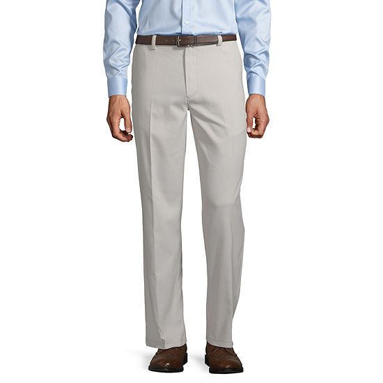 St. John's Bay Easy Care Men's Stretch Classic Fit Flat Front Pant