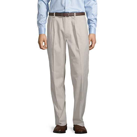 St. John's Bay Easy Care Men's Stretch Classic Fit Pleated Pant