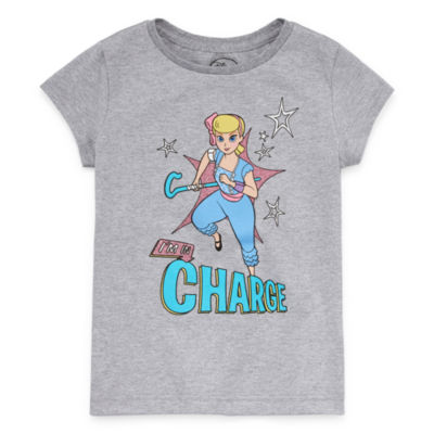 Disney Collection Toy Story 4 Graphic T-Shirt - Girls Little & Big Girls Crew Neck Toy Story Short Sleeve Graphic T-Shirt