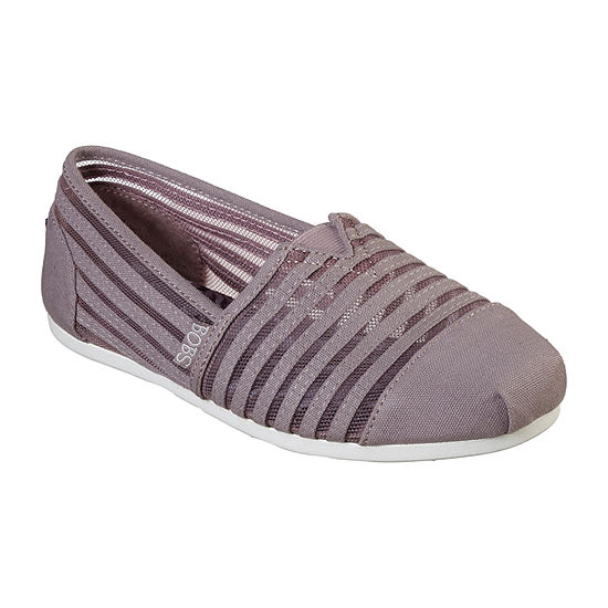 Skechers Womens Bobs Closed Toe Slip-On Shoes