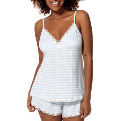 Dorina Romy Womens-Average Figure Microfiber Pajama Top Spaghetti Straps V Neck