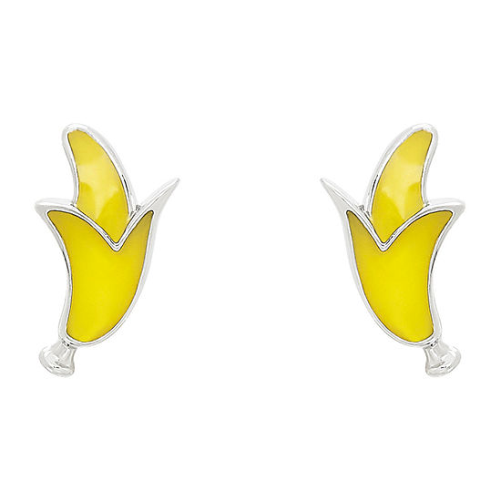 Nanas Crazy Monkeys Childrens Sterling Silver 102mm Stud Earrings