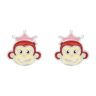 Nana's Crazy Monkeys Children'S Sterling Silver 8.8mm Stud Earrings