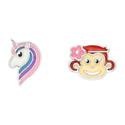 Nana's Crazy Monkeys Children'S Mismatch 8.8mm Stud Earrings
