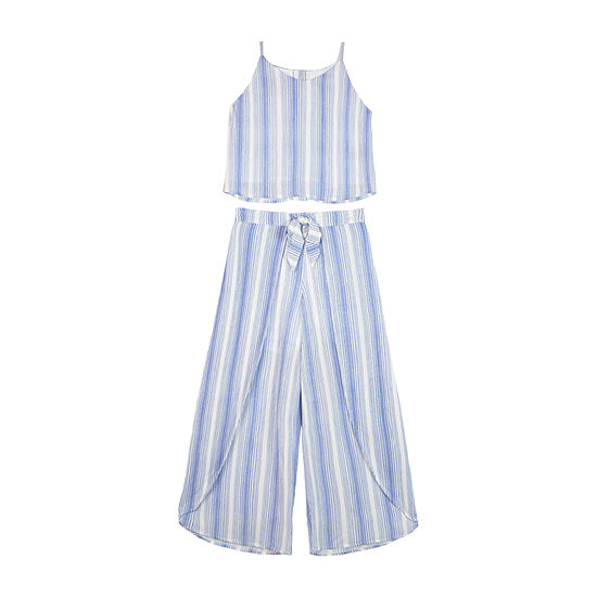 by&by girl 2-pc. Striped Pant Set Big Kid Girls