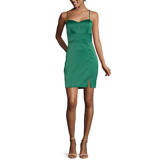 B. Darlin-Juniors Spaghetti Strap Bodycon Dress