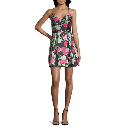 B. Darlin Spaghetti Strap Party Dress-Juniors, 1 , Black