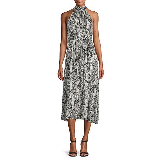 Worthington Womens Halter Dress - Tall
